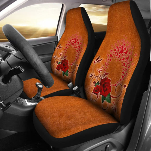 Girly Flower Rose and Butterfly Car Seat Covers 210902 - YourCarButBetter