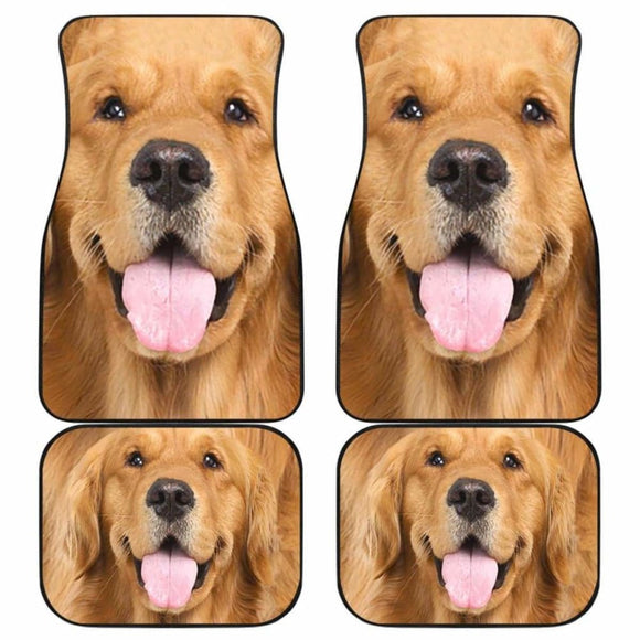 Golden Retriever Car Floor Mats Funny Dog Face 115106 - YourCarButBetter