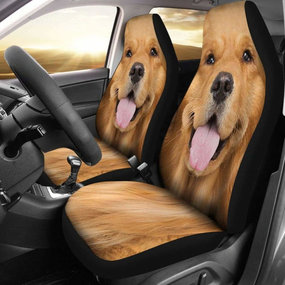 Golden Retriever Car Seat Covers Funny Dog Face 115106 - YourCarButBetter