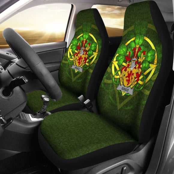 Gould Ireland Car Seat Cover Celtic Shamrock (Set Of Two) 154230 - YourCarButBetter