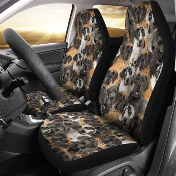 Great Dane Full Face Car Seat Covers 115106 - YourCarButBetter