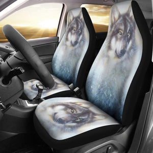 Great Wolf and Snow Car Seat Covers 212302 - YourCarButBetter