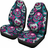 Gretta Skully Car Seat Covers - Sugar Skull - Pinkish 101207 - YourCarButBetter