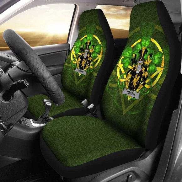 Griffin Or O'Griffy Ireland Car Seat Cover Celtic Shamrock (Set Of Two) 154230 - YourCarButBetter