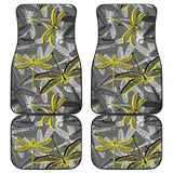 Hand Drawn Dragonfly Pattern Front And Back Car Mats 135711 - YourCarButBetter