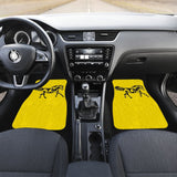 Horse Silhouette Yellow Car Floor Mats 211602 - YourCarButBetter