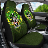 Howlett Or Hewlett Ireland Car Seat Cover Celtic Shamrock (Set Of Two) 154230 - YourCarButBetter