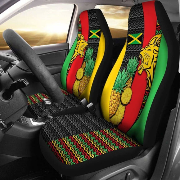 Jamaica Car Seat Covers - Jamaican Lion - Amazing 161012 - YourCarButBetter