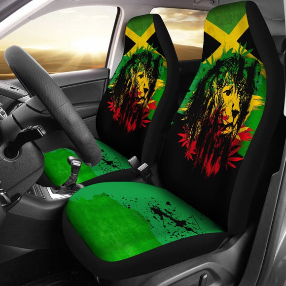 Jamaica Lion Car Seat Covers 211202 - YourCarButBetter