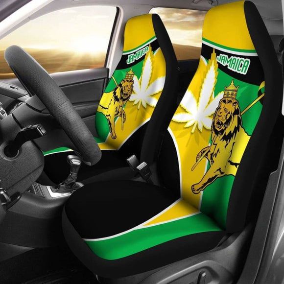Jamaica Lion Car Seat Covers Flag Version Amazing 161012 - YourCarButBetter