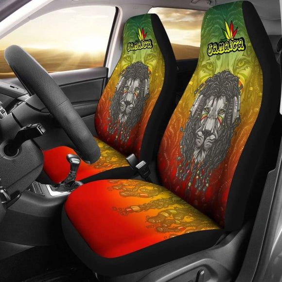 Jamaica Lion Reggae Car Seat Covers Amazing 161012 - YourCarButBetter