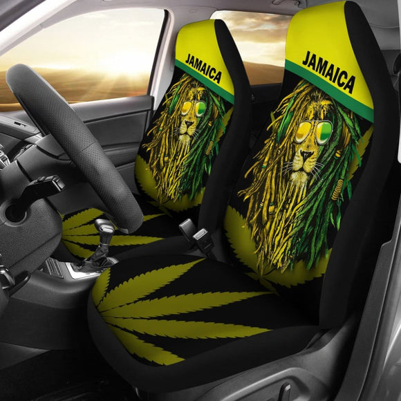 Jamaican Reggae Lion Car Seat Covers 211002 - YourCarButBetter