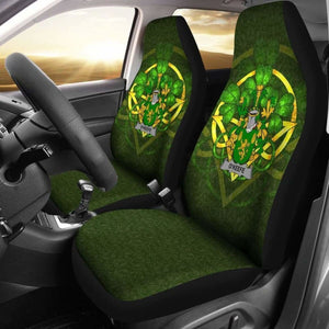 Keefe Or O'Keefe Ireland Car Seat Cover Celtic Shamrock (Set Of Two) 154230 - YourCarButBetter