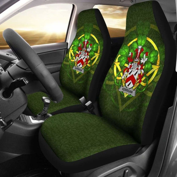 Kerrigan Or O'Kerrigan Ireland Car Seat Cover Celtic Shamrock (Set Of Two) 154230 - YourCarButBetter