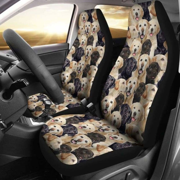 Labrador Retriever Full Face Car Seat Covers 115106 - YourCarButBetter