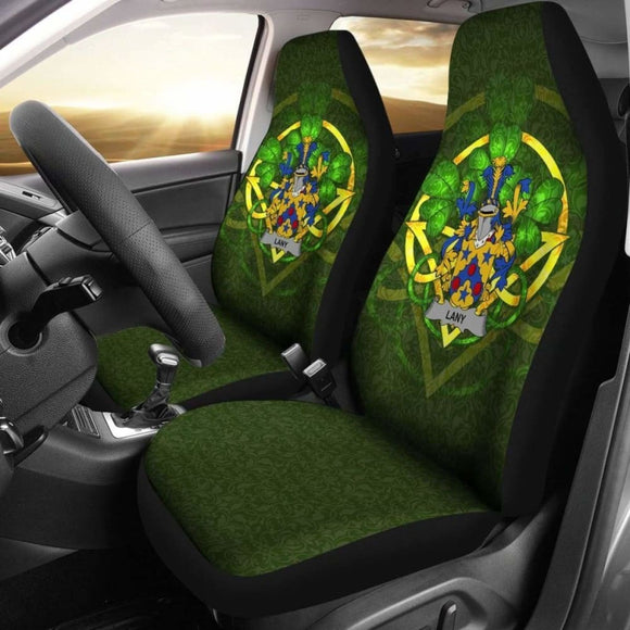 Lany Or Laney Ireland Car Seat Cover Celtic Shamrock (Set Of Two) 154230 - YourCarButBetter