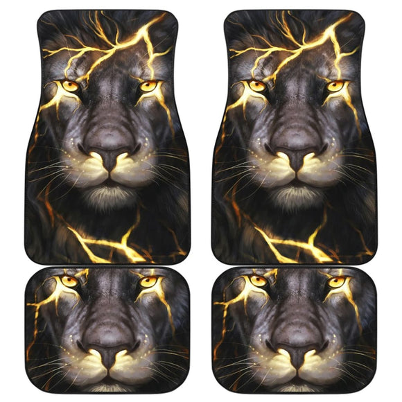 Lightning Bolt Lion Car Floor Mats 211303 - YourCarButBetter