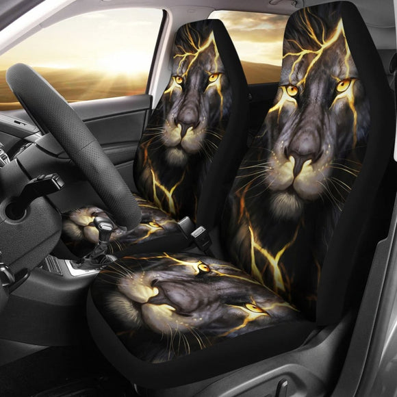 Lightning Bolt Lion Car Seat Covers 211303 - YourCarButBetter