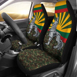 Lithuania Car Seat Covers Iron Wolf 200904 - YourCarButBetter