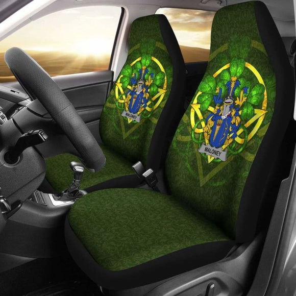 Maloney Or O'Molony Ireland Car Seat Cover Celtic Shamrock (Set Of Two) 154230 - YourCarButBetter