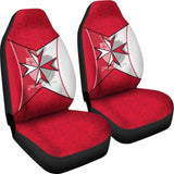 Malta Car Seat Covers - Maltese Cross With Flag Color - 160905 - YourCarButBetter