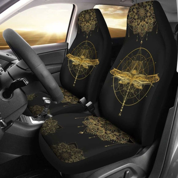 Mandala Pentagram Dragonfly Car Seat Cover 135711 - YourCarButBetter