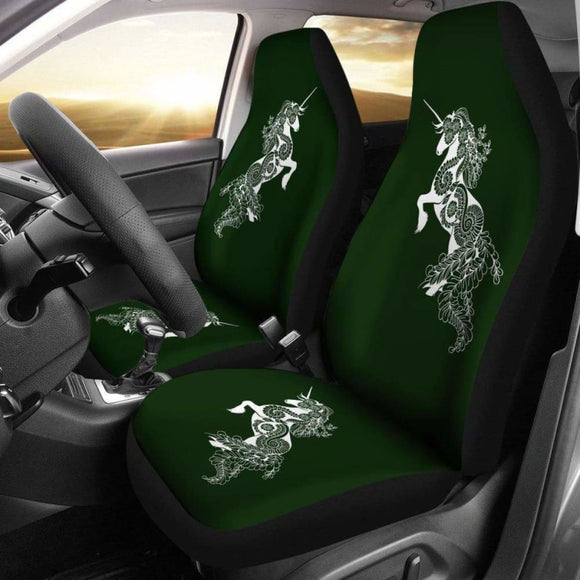 Mandala Unicorn - Olive - Car Seat Covers 170817 - YourCarButBetter