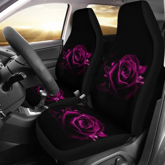 Most Beautiful Purple Roses Car Seat Covers 210902 - YourCarButBetter