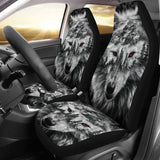 Mountain Snow Wolf Car Seat Covers 211303 - YourCarButBetter