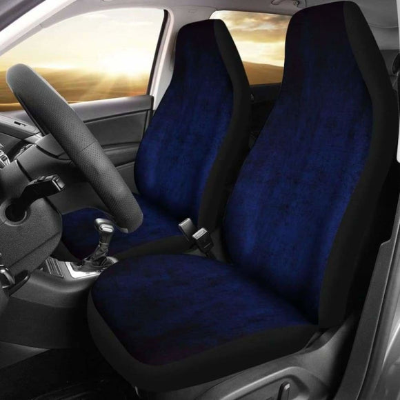 Navy Blue Grunge Car Seat Covers 232125 - YourCarButBetter