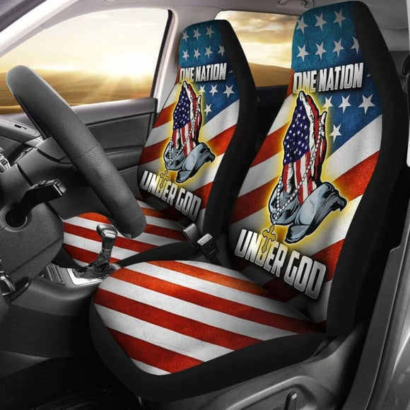 One Nation Under God American Flag Car Seat Covers 203011 - YourCarButBetter