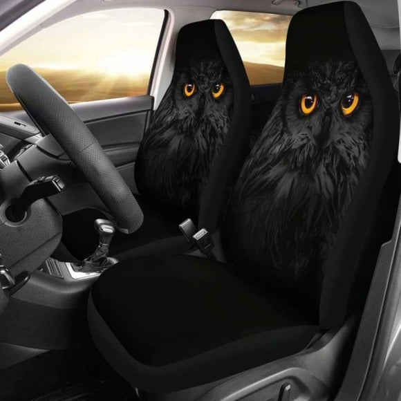 Owl Dark Car Seat Covers 174716 - YourCarButBetter