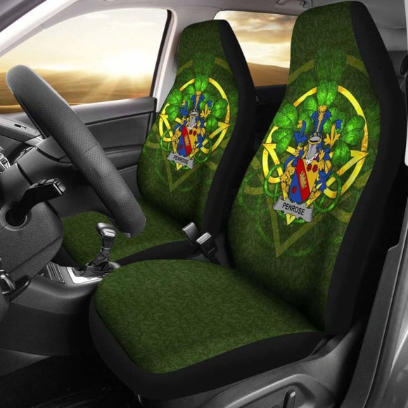 Penrose Ireland Car Seat Cover Celtic Shamrock (Set Of Two) 154230 - YourCarButBetter