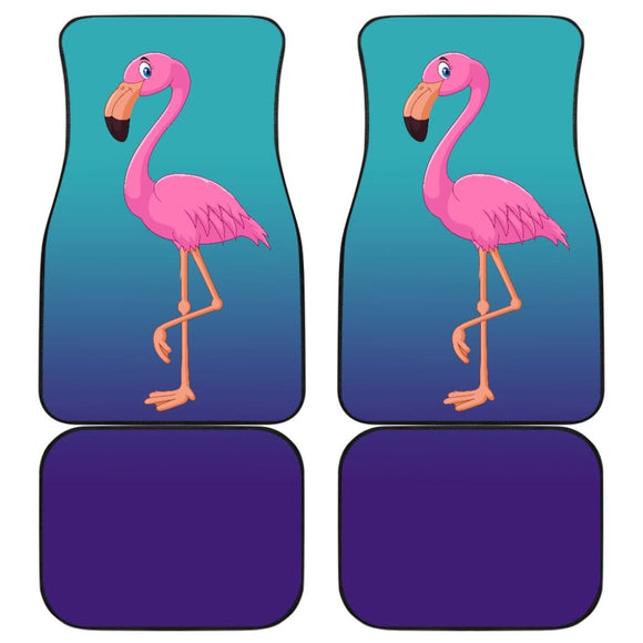 Pink Flamingo Blue Background Car Floor Mats 210502 - YourCarButBetter