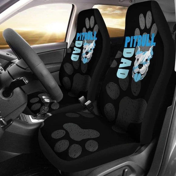 Pitbull Dad Car Seat Covers 113510 - YourCarButBetter