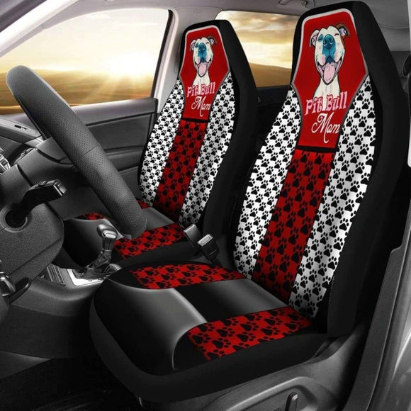 Pitbull Mom Car Seat Cover 113510 - YourCarButBetter