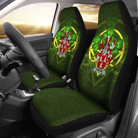 Porter Ireland Car Seat Cover Celtic Shamrock (Set Of Two) 154230 - YourCarButBetter