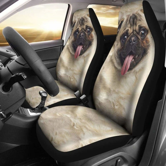 Pug Dog Car Seat Covers Funny Dog Face 102918 - YourCarButBetter