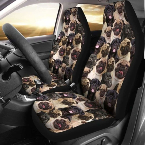 Pug Full Face Car Seat Covers 102918 - YourCarButBetter