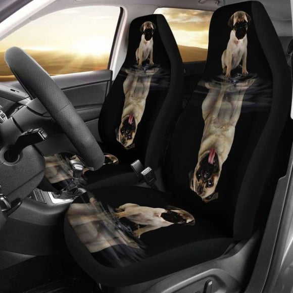 Pug Pets Dogs Animal Car Seat Cover 102918 - YourCarButBetter