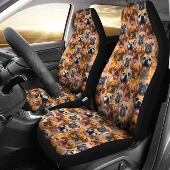 Puggle Full Face Car Seat Covers 102918 - YourCarButBetter