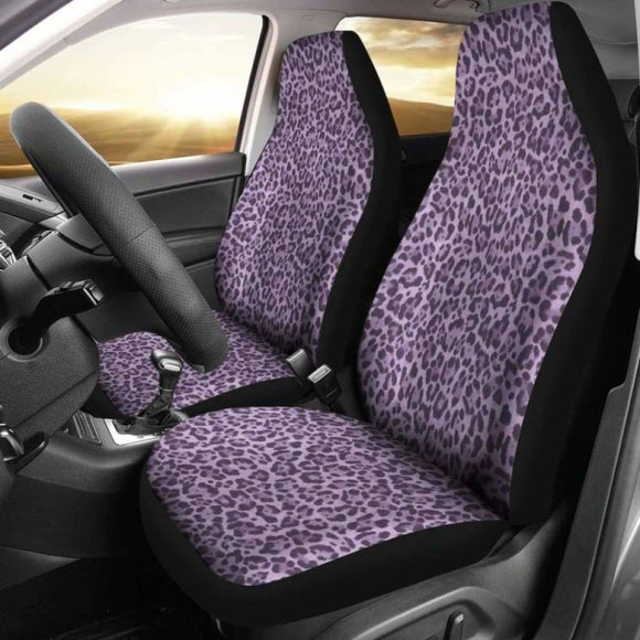 Purple Leopard Print Car Seat Covers Animal Skin 092813 - YourCarButBetter