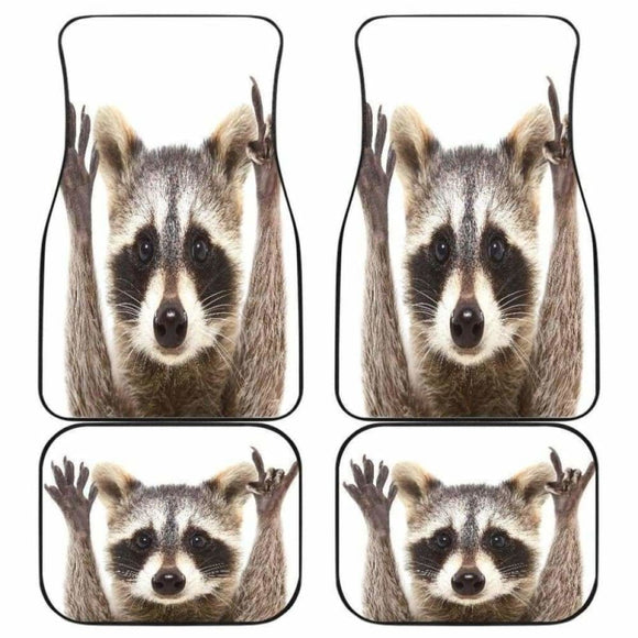 Raccoon Funny Animal Wild Pet Car Floor Mats 154813 - YourCarButBetter