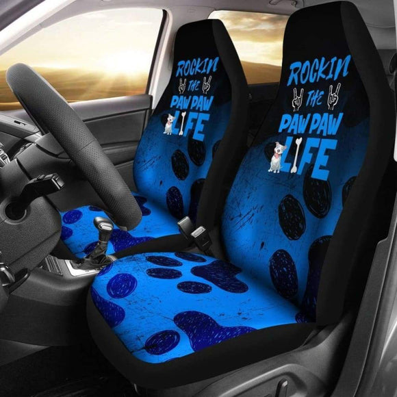 Rockin Paw Paw Life Pitbull Car Seat Covers 113510 - YourCarButBetter