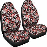Set 2 Pcs Gothic Skull Car Seat Covers 101207 - YourCarButBetter