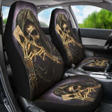 Set 2 Pcs Gothic Skull Car Seat Covers 172727 - YourCarButBetter
