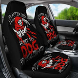 Set Of 2 - Life After Dead - Skull Grim Reaper Car Seat Covers 112608 - YourCarButBetter