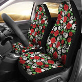 Set Of 2 Pcs Skull Sugar Skull Car Seat Covers 101207 - YourCarButBetter