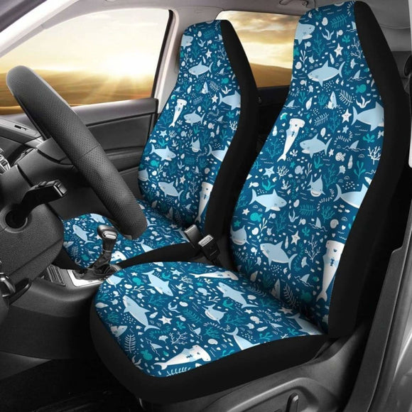 Shark & Other Sea Animals Shark Car Seat Covers 04 102802 - YourCarButBetter