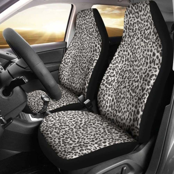 Snow Leopard Skin Animal Print Car Seat Covers 092813 - YourCarButBetter